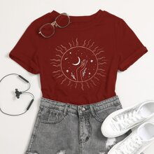 Galaxie Muster  Laessig T-Shirts