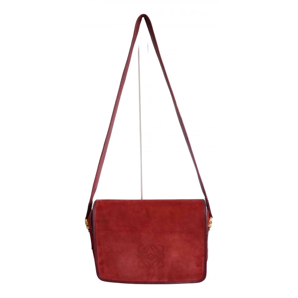 Loewe \N Handtasche in  Rot Veloursleder