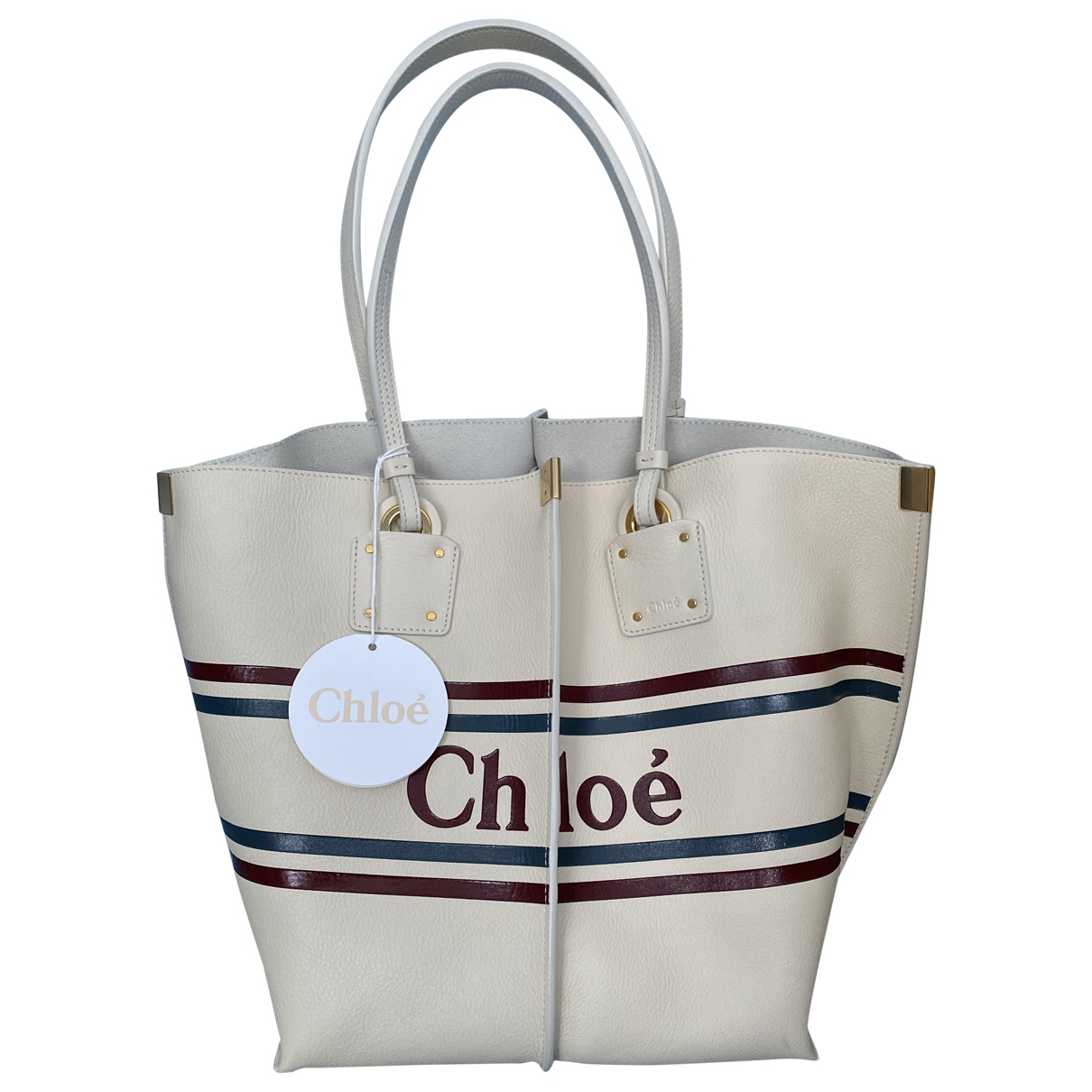 Chloe \N Handtasche in  Weiss Leder
