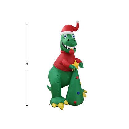 Décoration gonflable de dragon de Noël LED Airblown 7ft
