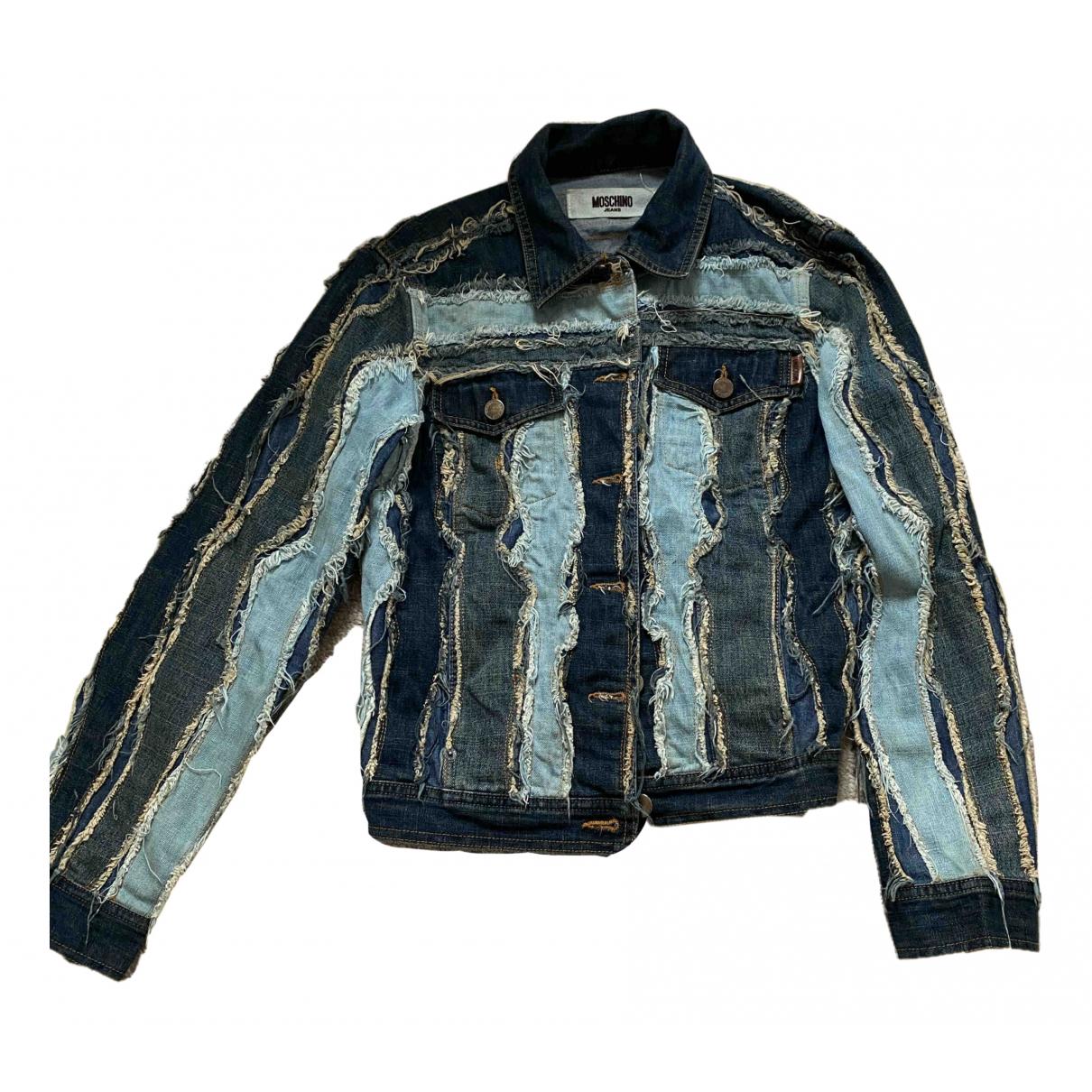 Moschino Cheap And Chic \N Jacke in  Blau Denim - Jeans