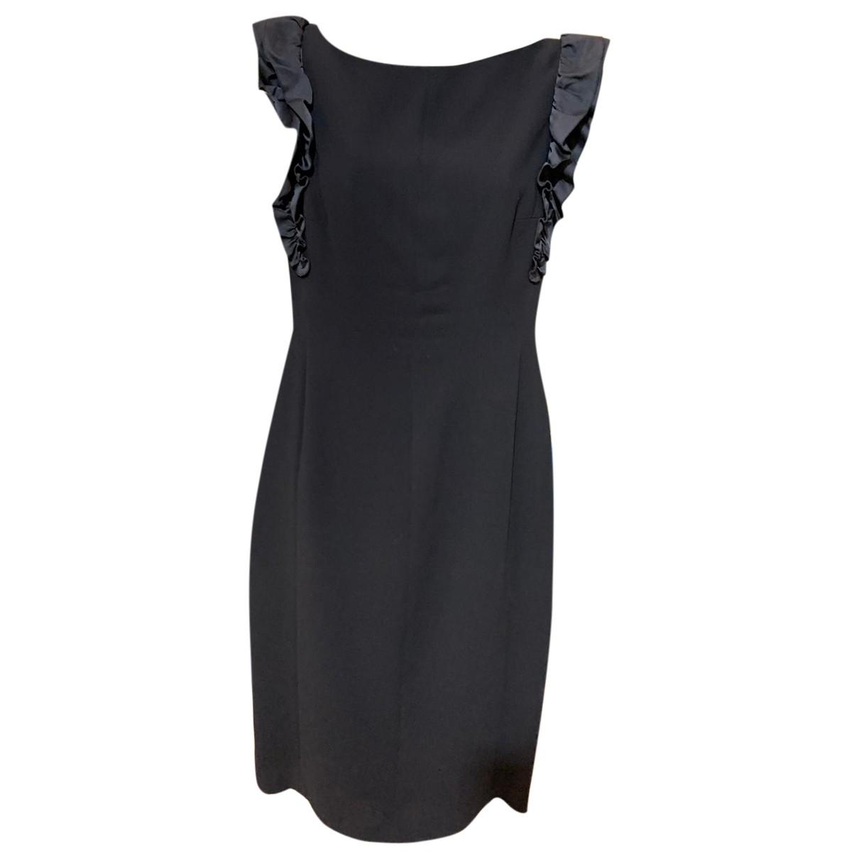 Valentino Garavani \N Kleid in  Schwarz Baumwolle