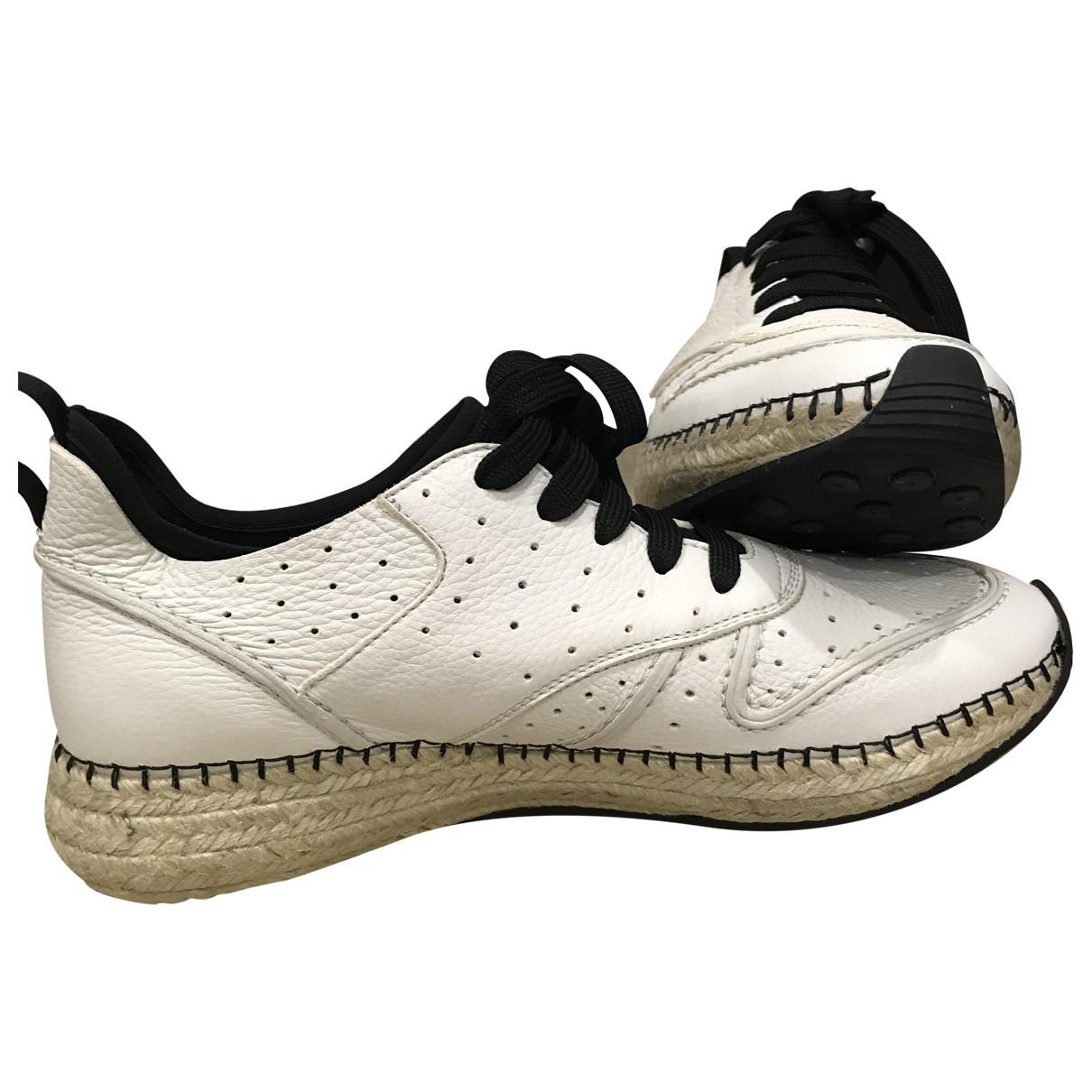 Tods - Baskets   pour femme en cuir - blanc