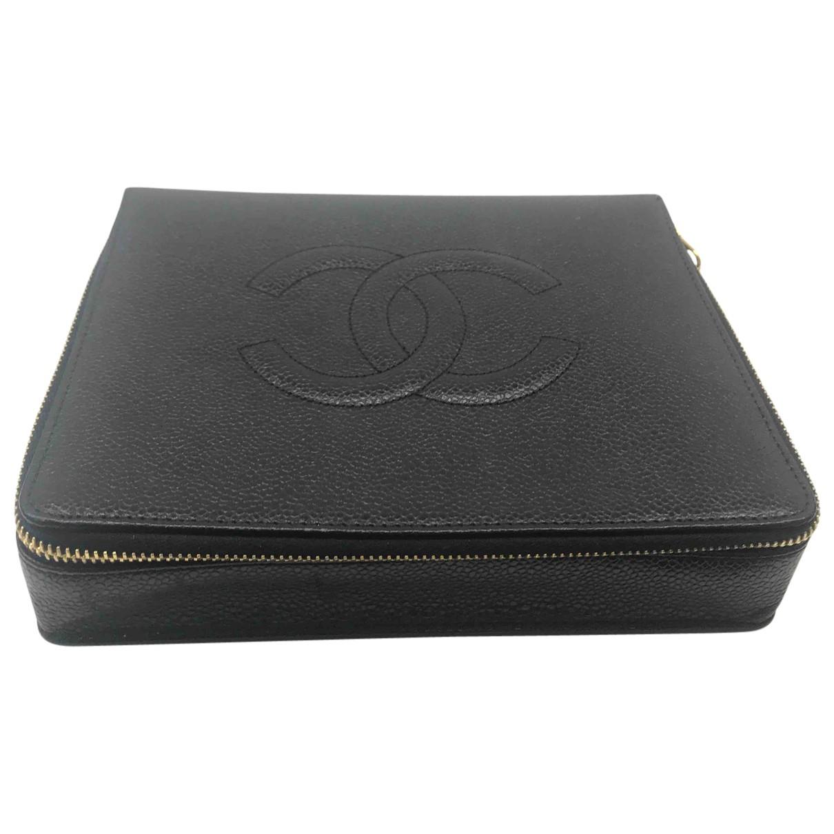 Chanel - Sac de voyage   pour femme en cuir - noir