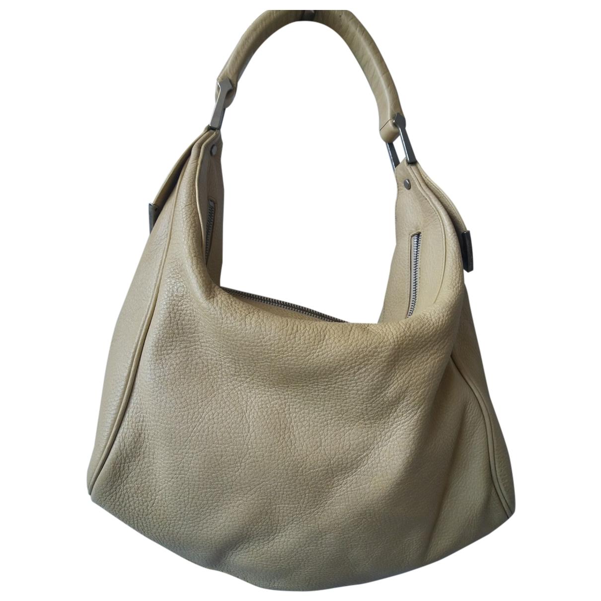 Gianni Versace \N Handtasche in  Ecru Leder