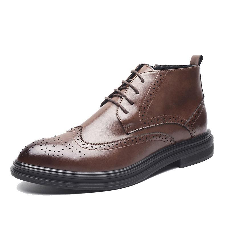 Ericdress Side Zipper Pointed Toe Men's Boots