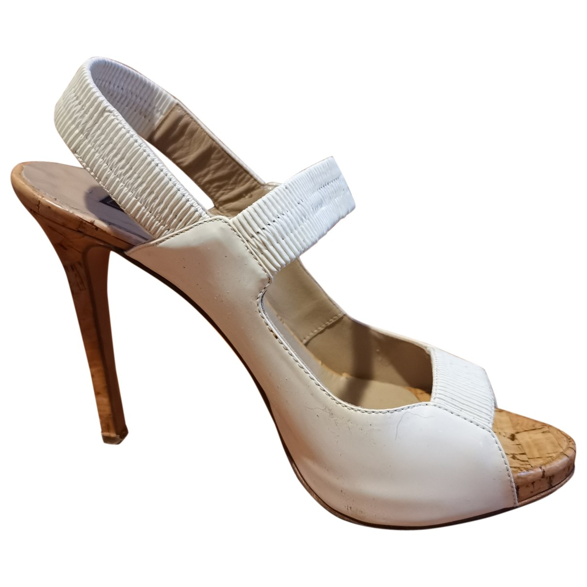 Le Silla \N White Patent leather Heels for Women 36 EU