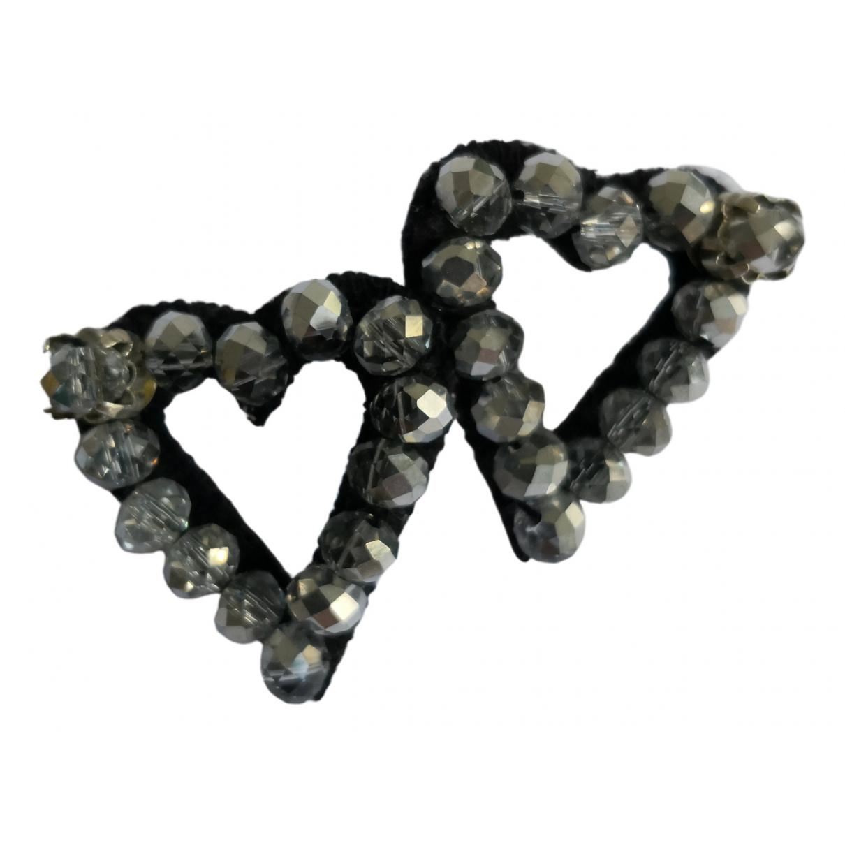 - Boucles doreilles Motifs Coeurs pour femme en metal - argente