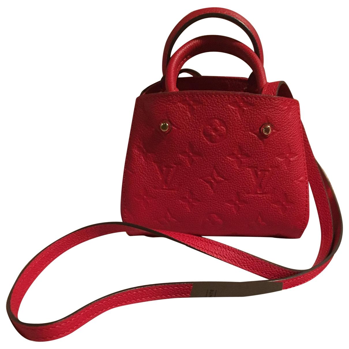 Louis Vuitton Montaigne Handtasche in  Rot Leder