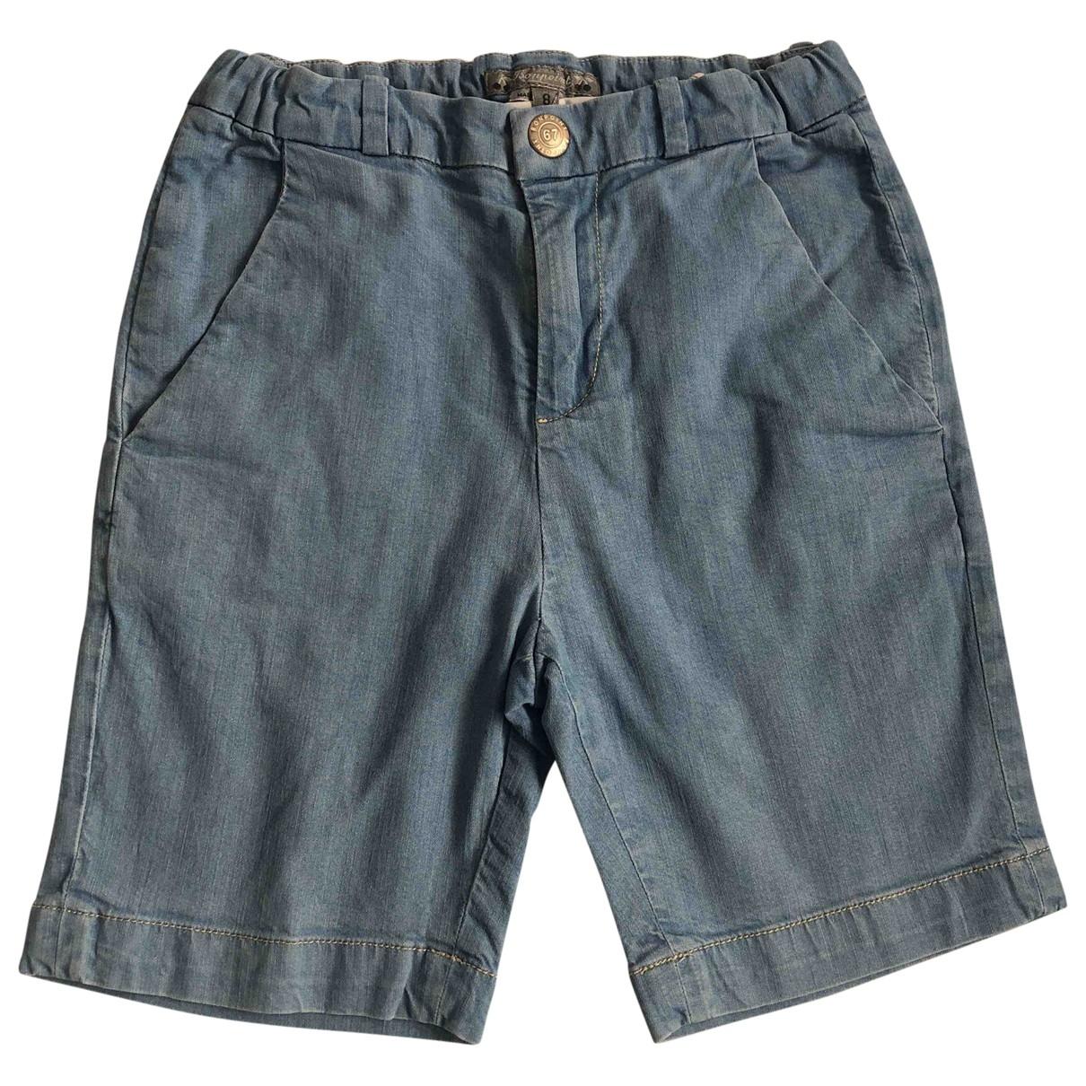 Bonpoint - Short   pour enfant en denim - bleu