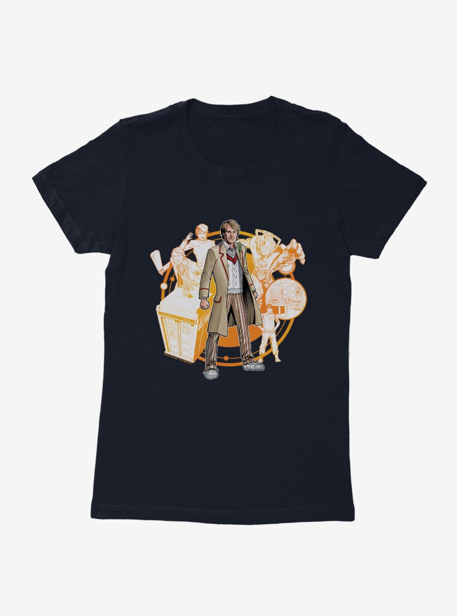 Doctor Who The Fifth Doctor Womens T-Shirt