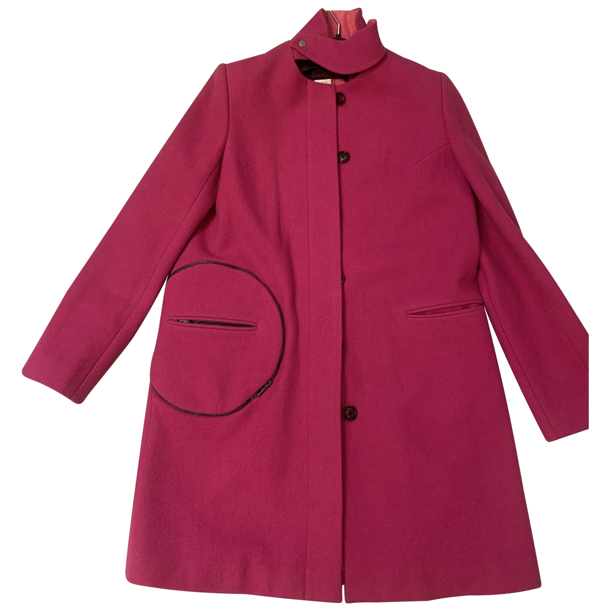 Ramosport \N Pink Wool coat for Women 38 IT