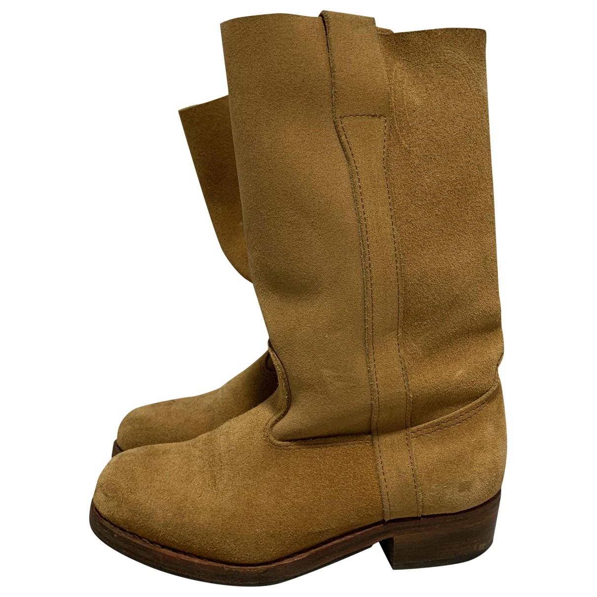 La Botte Gardiane \N Beige Suede Boots for Women 36 EU
