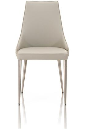 1618.SYN.LGRY Ivy Collection 1618.Syn.Lgry Set Of 2 Dining Chairs In Light