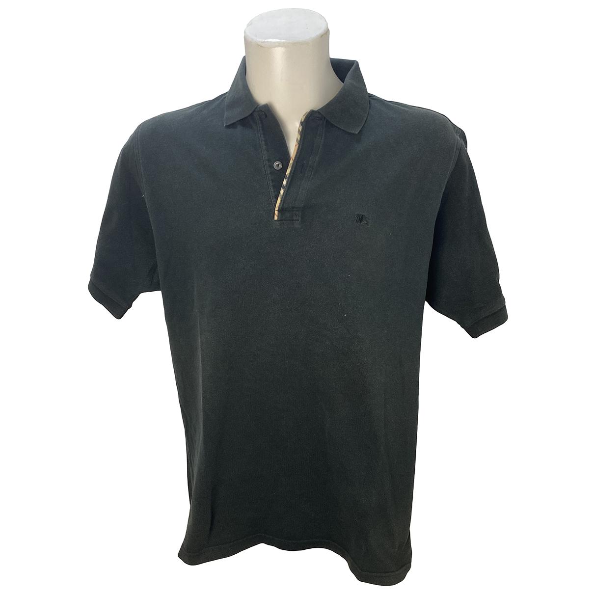 Burberry - Polos   pour homme en coton - noir