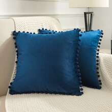 Pom Pom Cushion Cover Without Filler