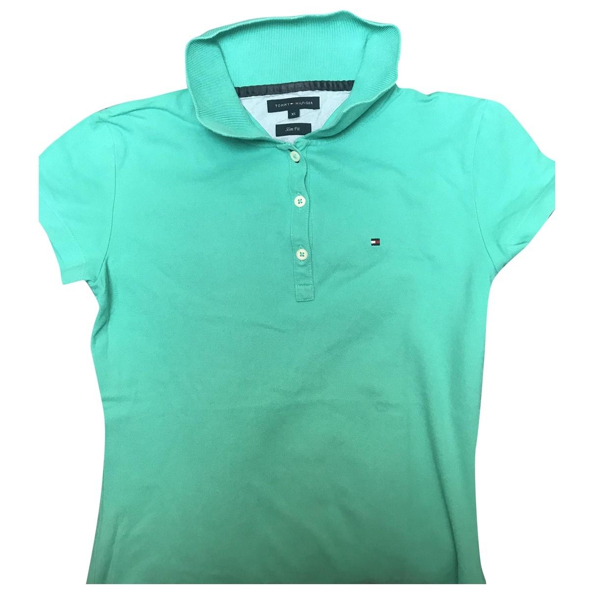 Tommy Hilfiger \N Turquoise Cotton Knitwear for Women 36 IT