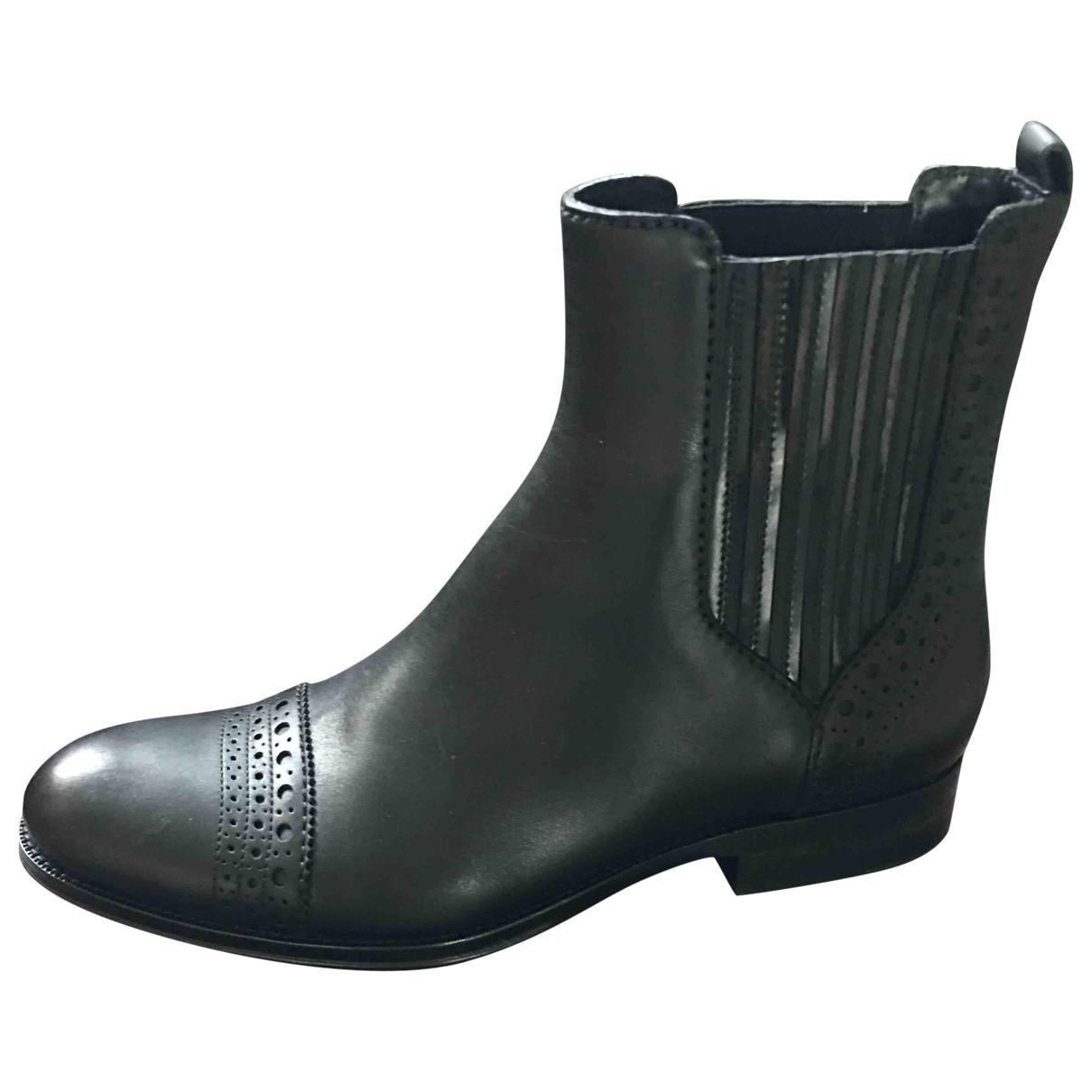 Louis Vuitton \N Black Leather Ankle boots for Women 40 EU