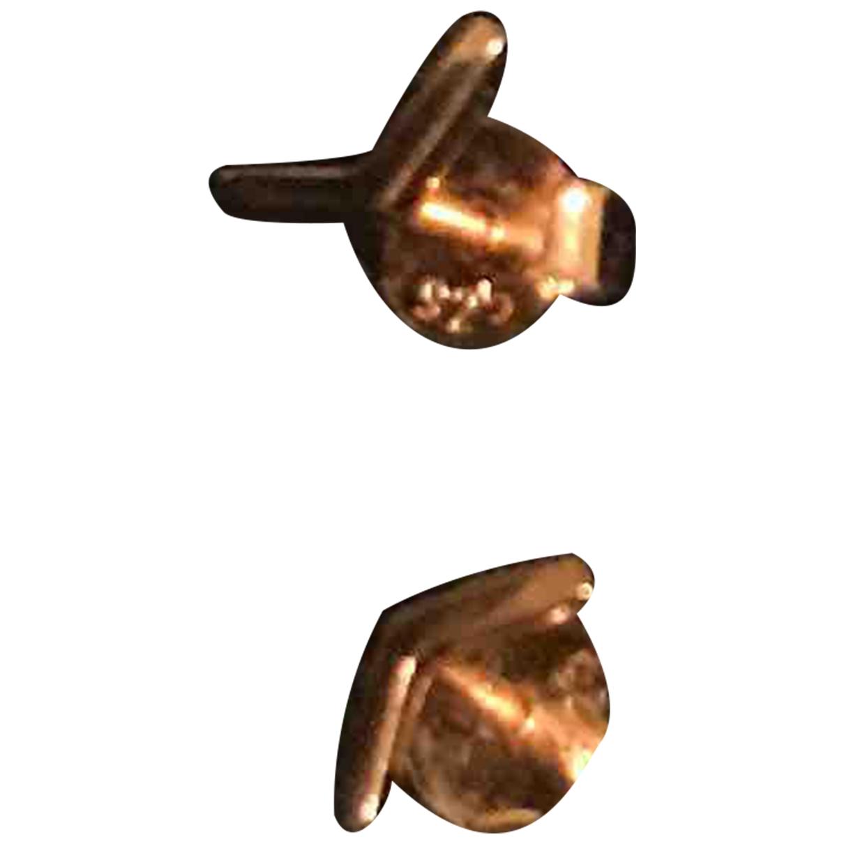- Boucles doreilles   pour femme en plaque or - rose