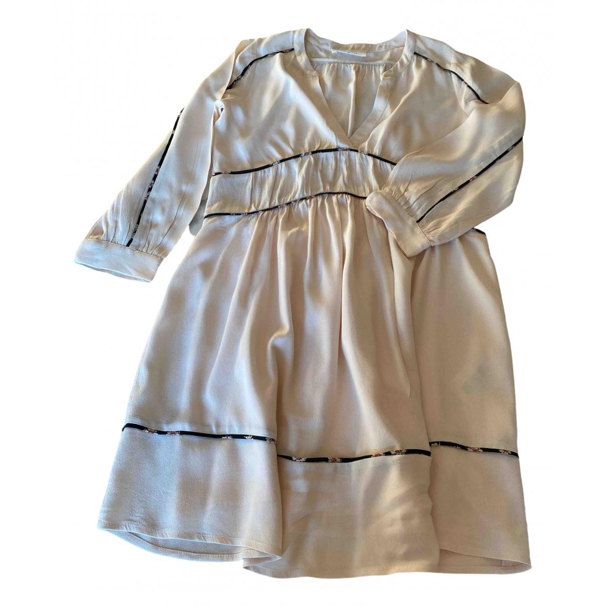 Ba&sh \N Kleid in  Beige Viskose