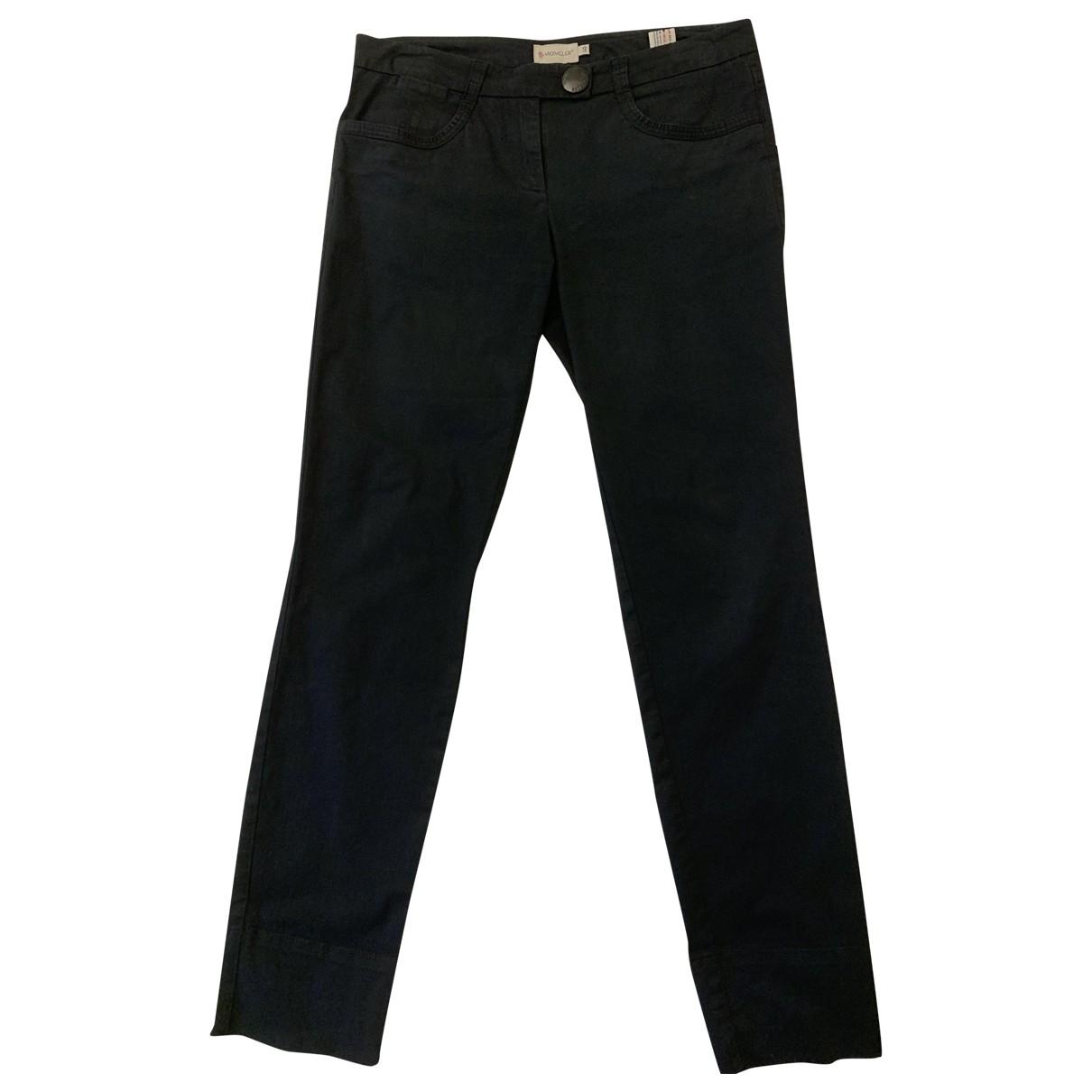 Moncler \N Black Cotton Trousers for Women 40 IT