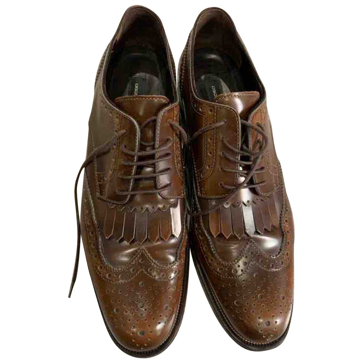 Dsquared2 - Derbies   pour femme en cuir - marron
