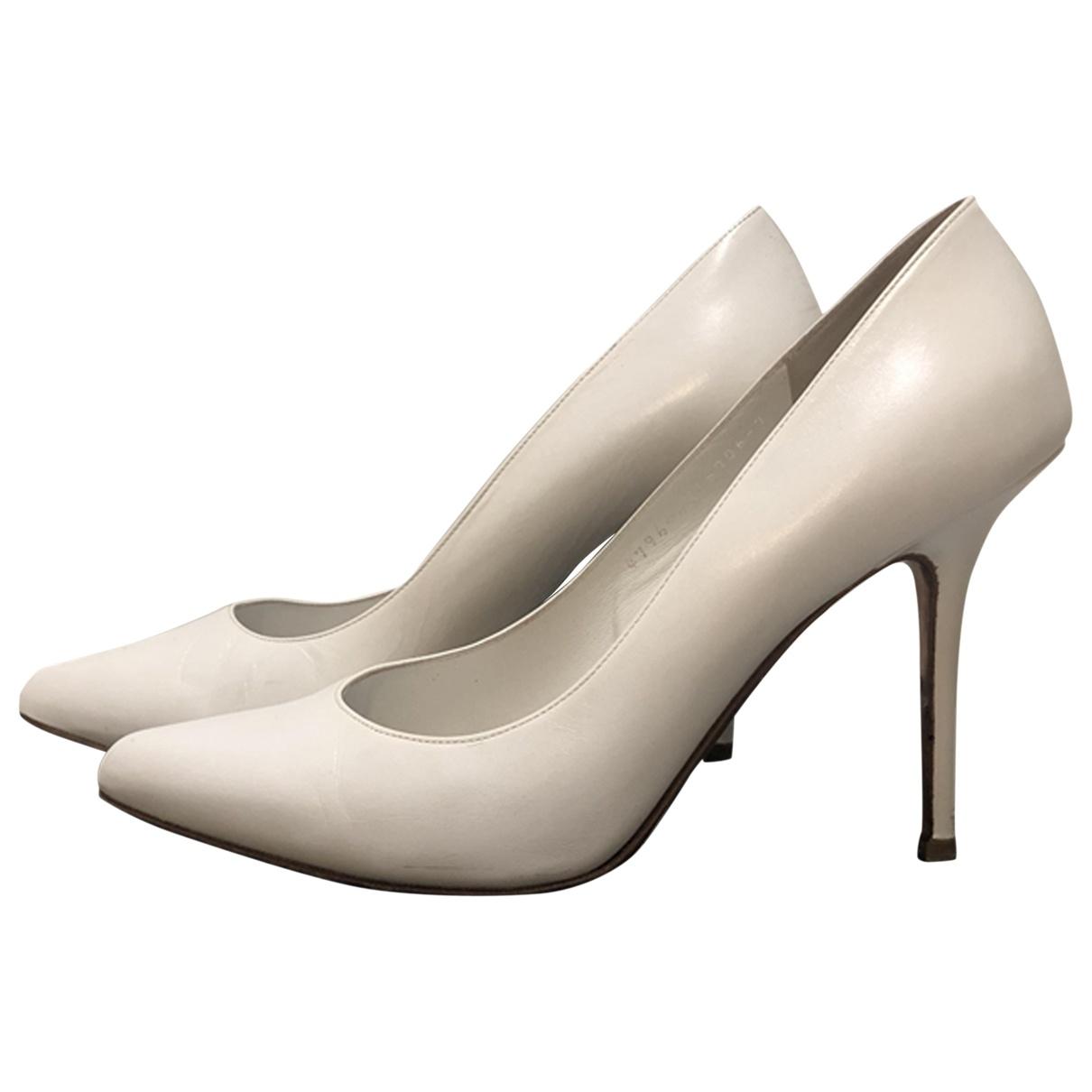 Gina - Escarpins   pour femme en cuir - blanc
