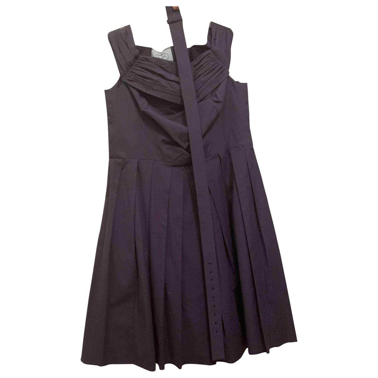 Prada - Robe   pour femme en coton - bleu