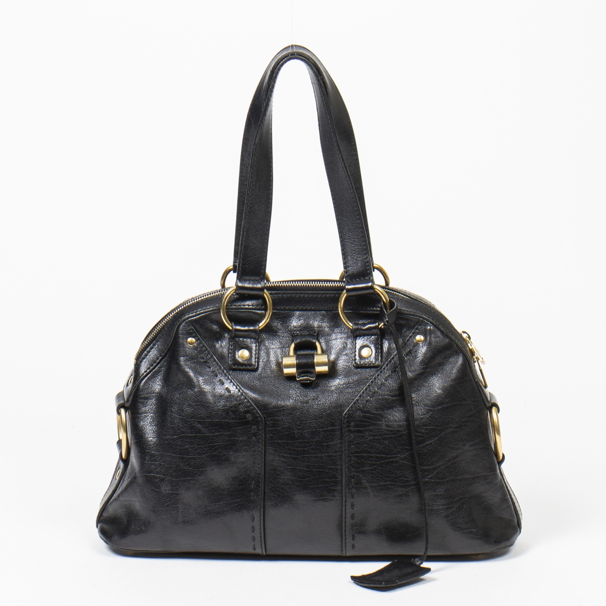 Yves Saint Laurent Muse Black Leather handbag for Women \N