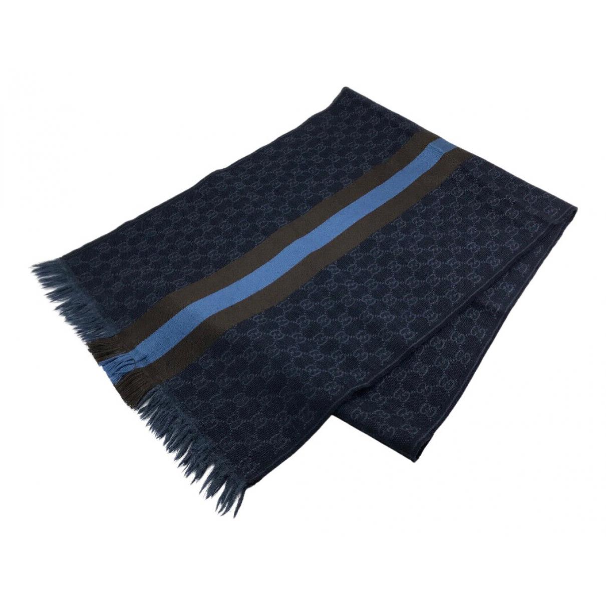Gucci \N Tuecher, Schal in  Marine Wolle