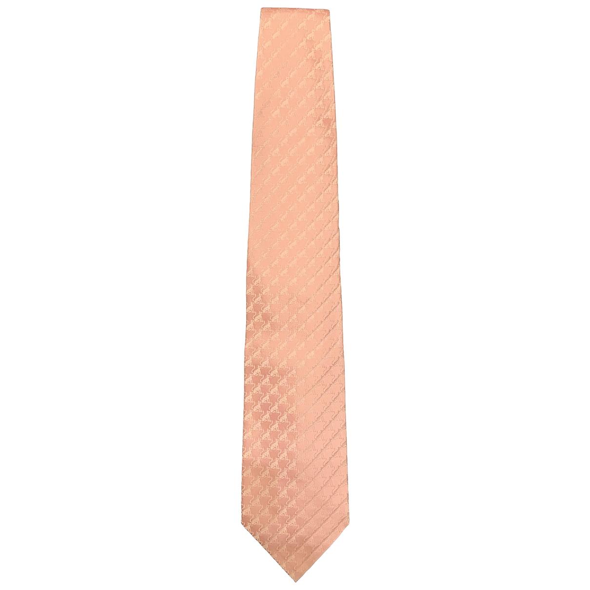 Valextra \N Krawatten in  Rosa Seide