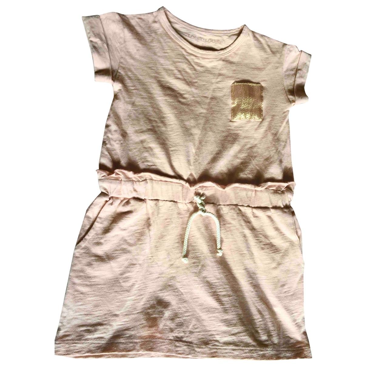 Louis Louise - Robe    pour enfant en coton - rose