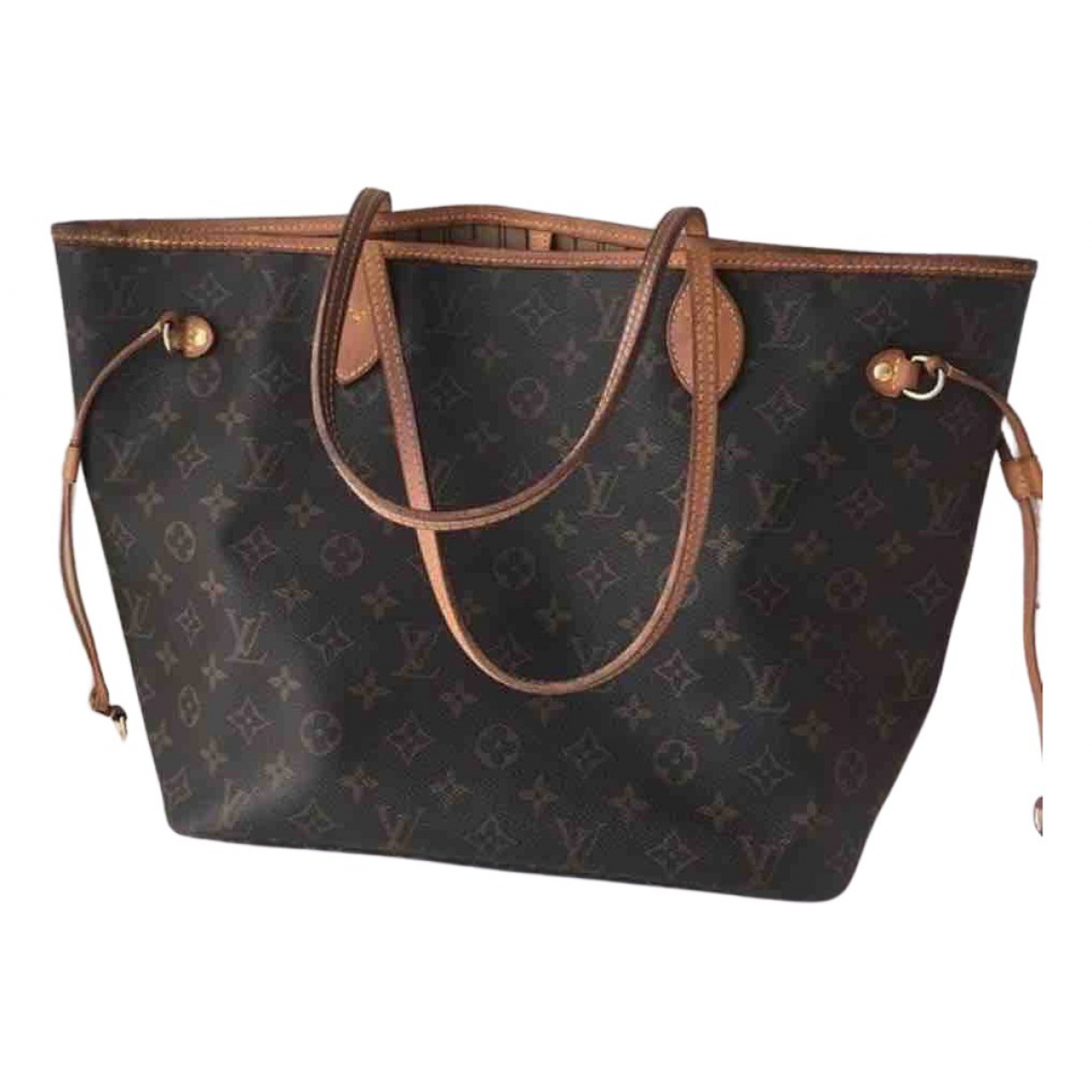 Louis Vuitton Neverfull Brown Cloth handbag for Women \N