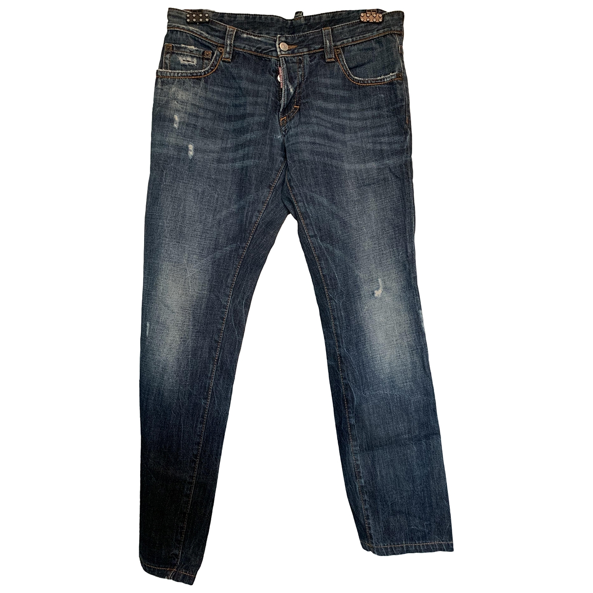 Dsquared2 \N Navy Cotton - elasthane Jeans for Men 34 US