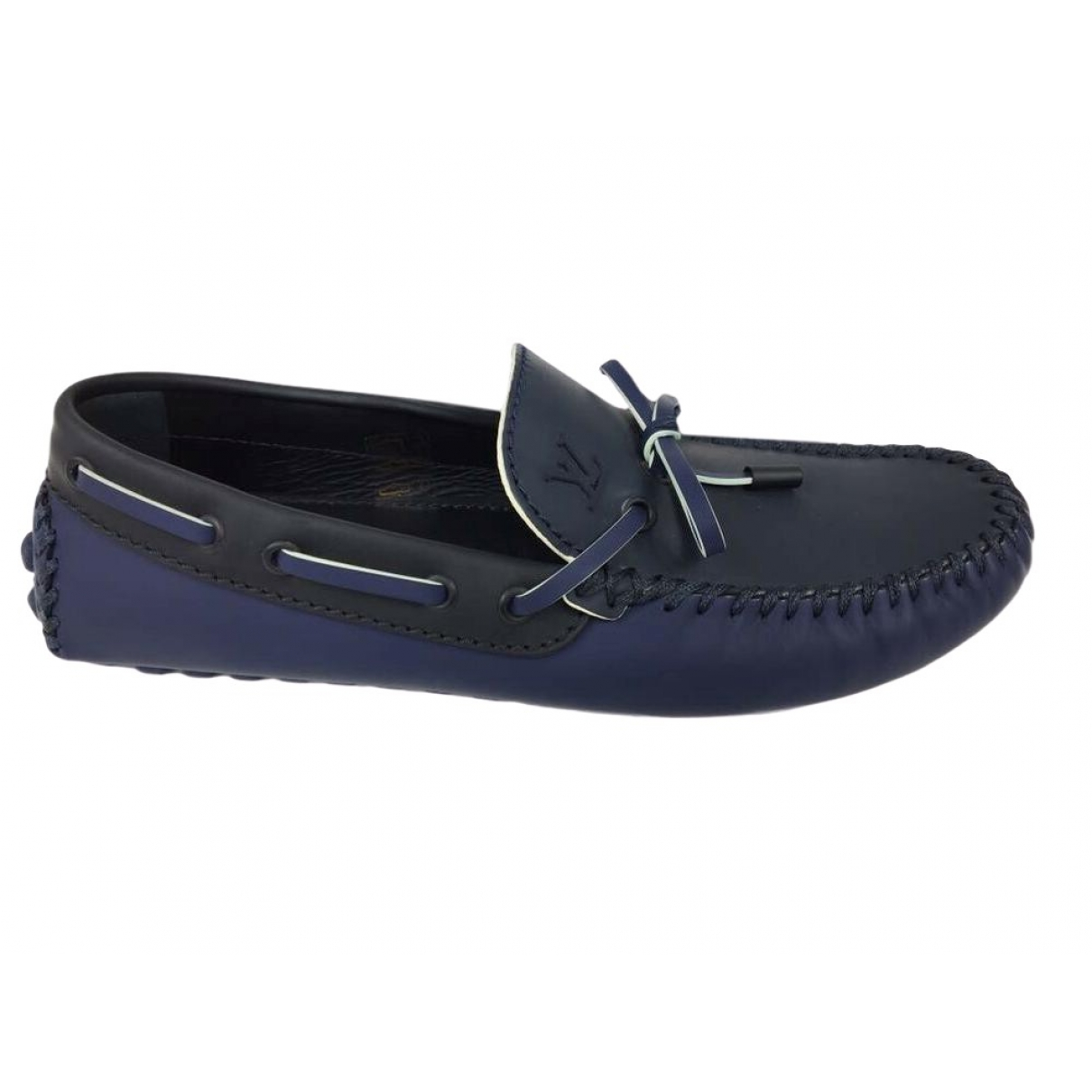 Louis Vuitton \N Navy Leather Flats for Men 6 UK