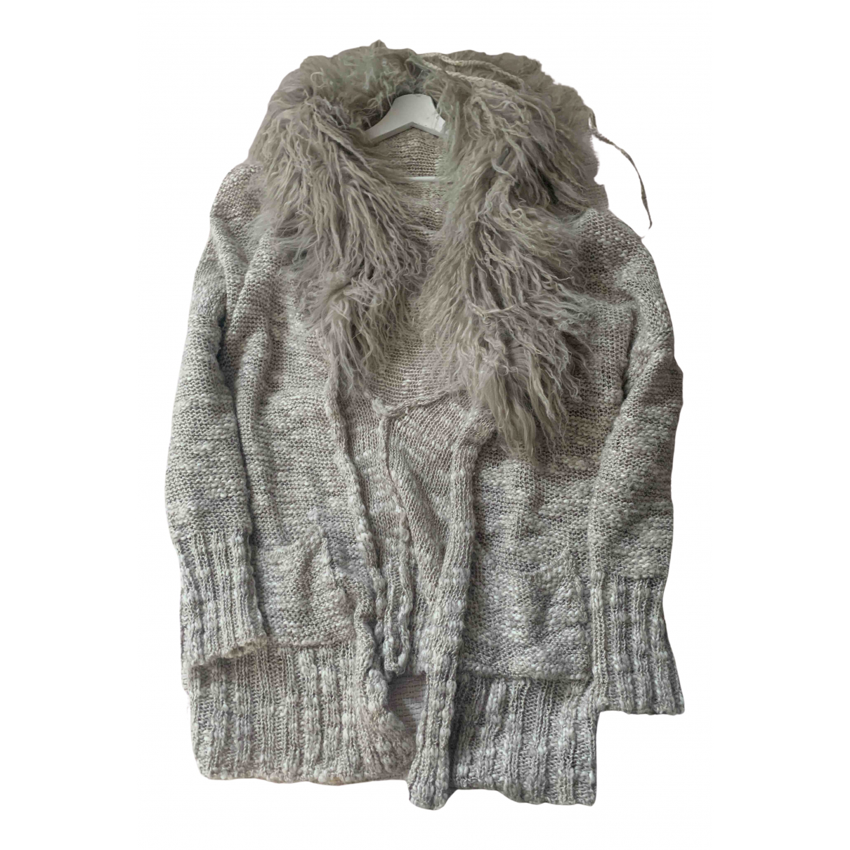 Non Signé / Unsigned Hippie Chic Grey Wool Knitwear for Women S International