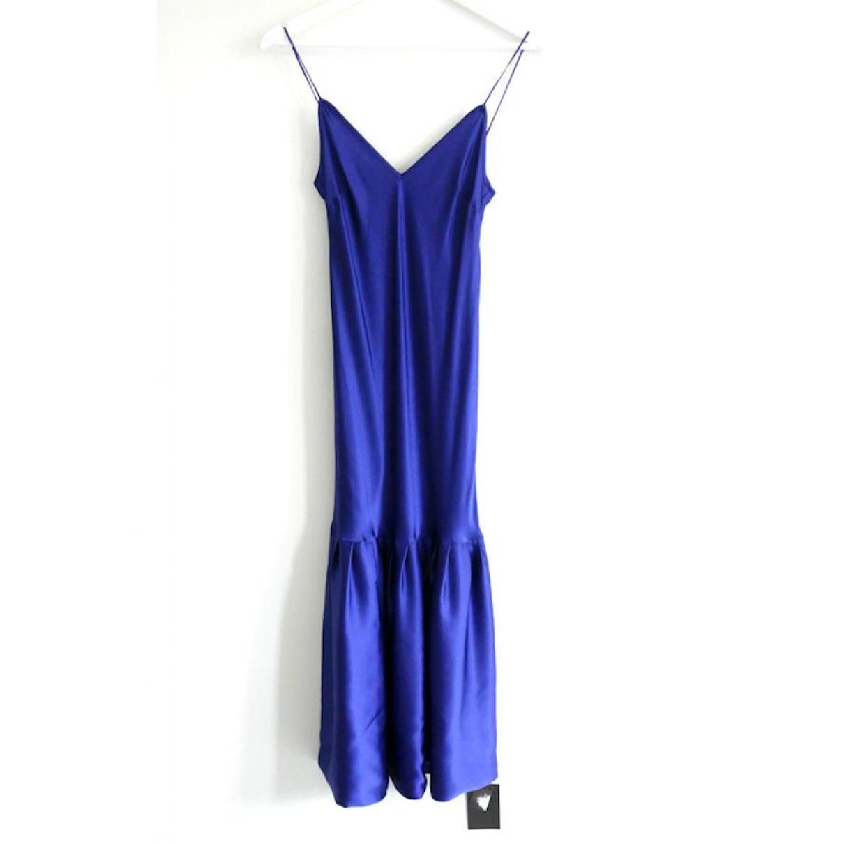 Maggie Marylin \N Blue Silk dress for Women 2 US