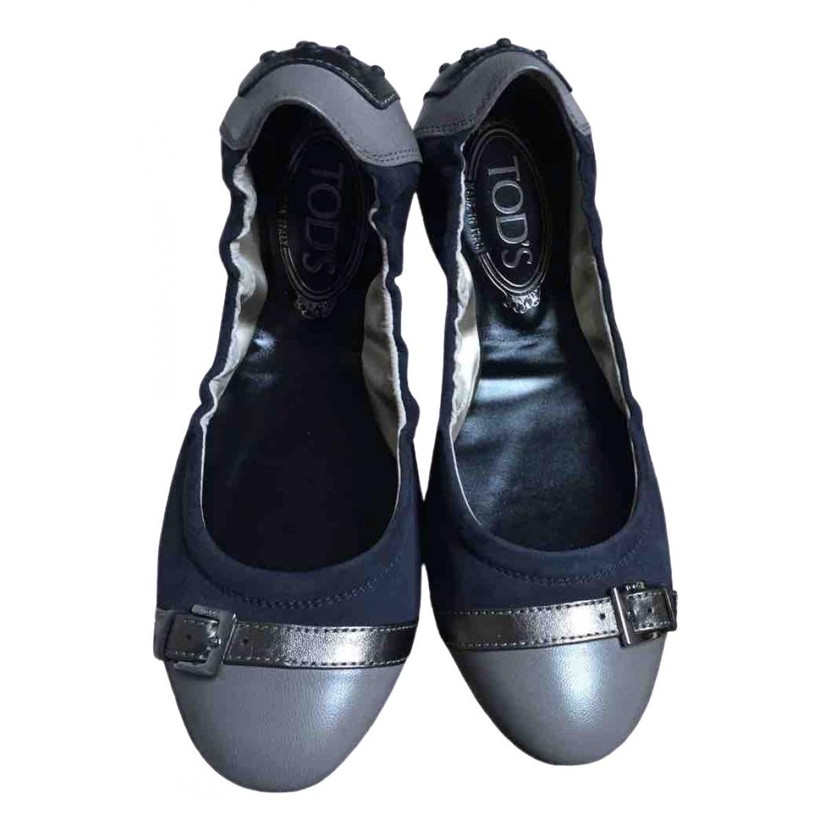 Tods \N Ballerinas in  Marine Leder