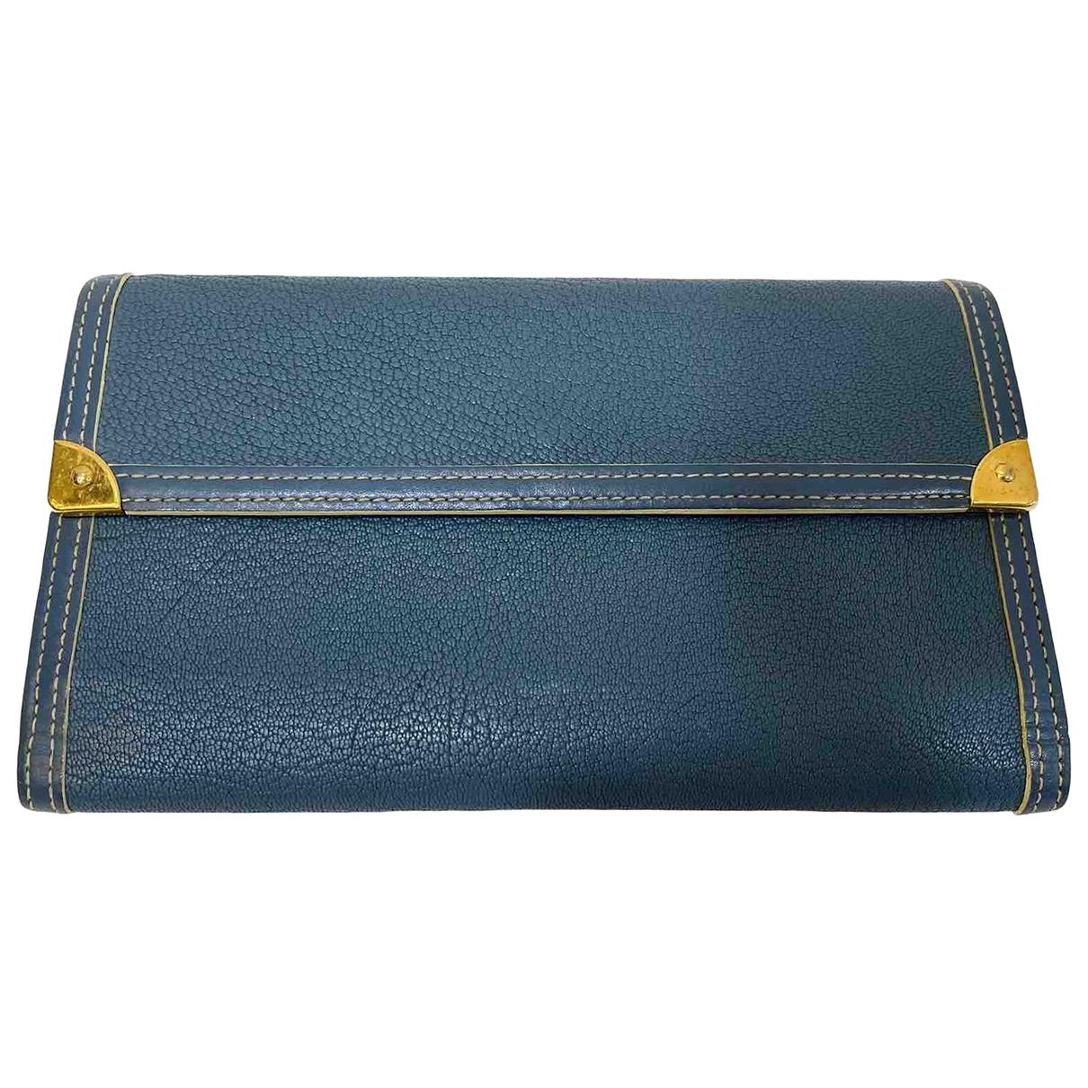 Louis Vuitton \N Blue Leather wallet for Women \N