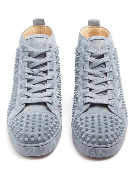 Milanoo Zapatos de lona Piel sintetica de gris clarocon pinchos estilo informal de puntera redonda Invierno para uso al aire libre