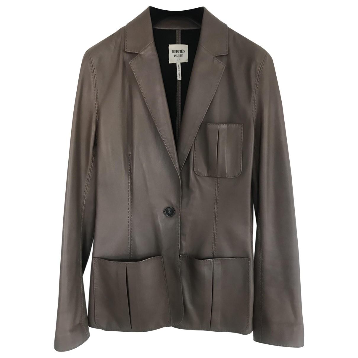 Hermes - Veste   pour femme en cuir