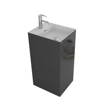 Solid Surface SP1518GR 15 Springhill Pedestal with Square Outline and Super Durable Construction in