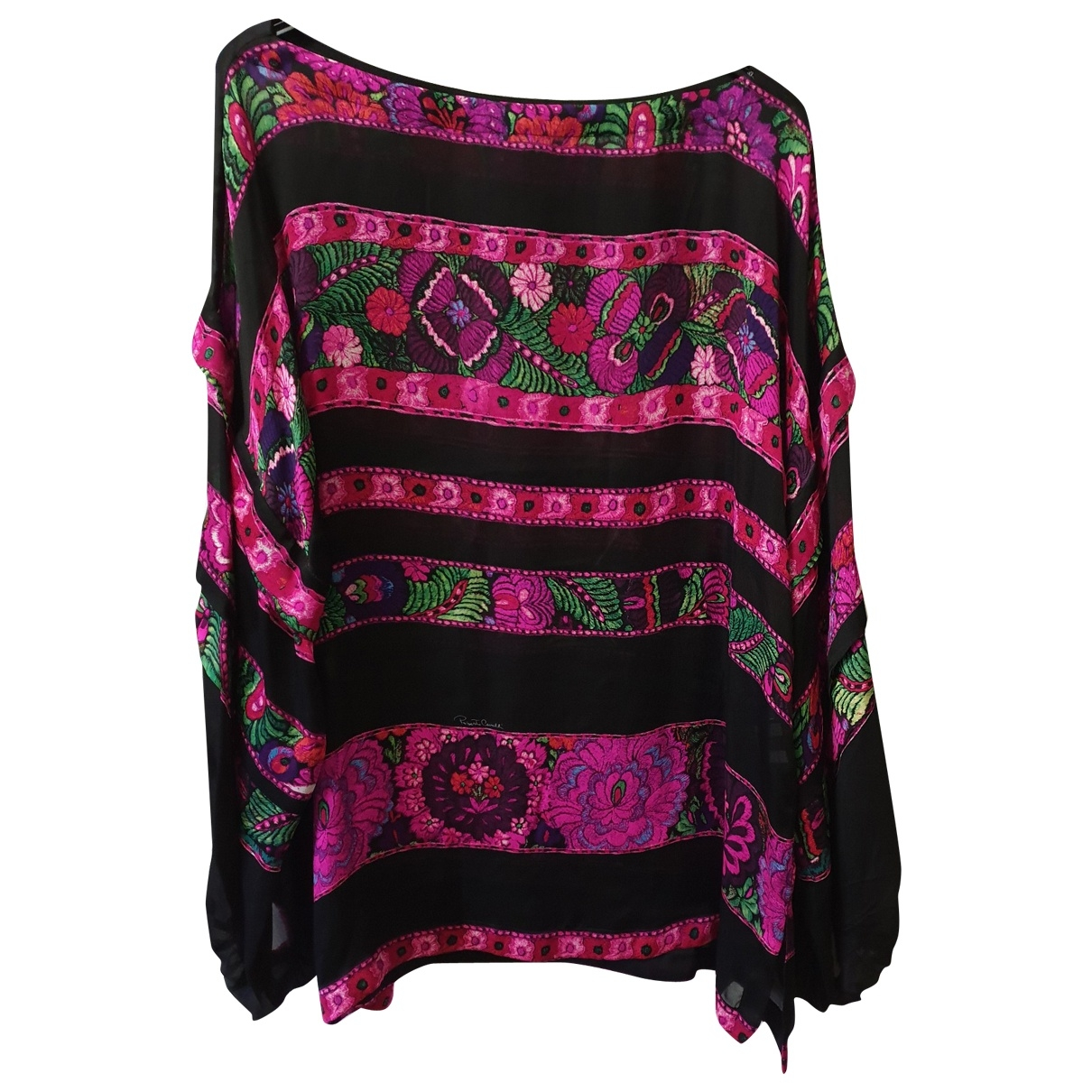 Roberto Cavalli \N Pink Silk  top for Women 42 IT