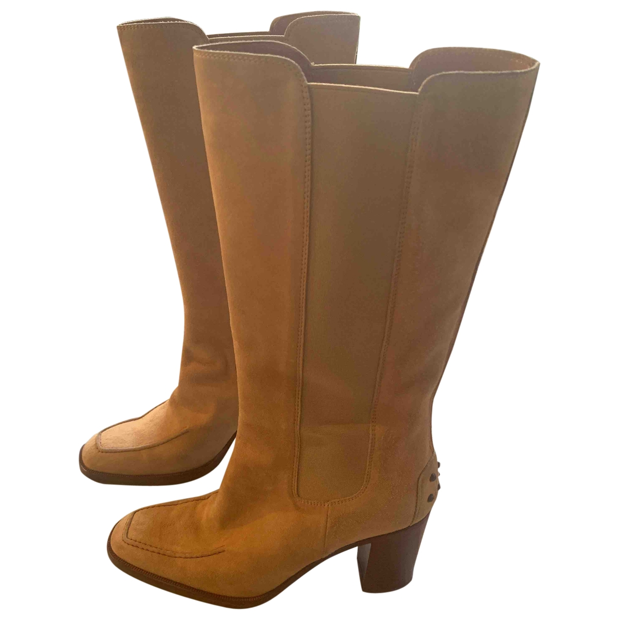 Tod's \N Camel Leather Boots for Women 35 EU