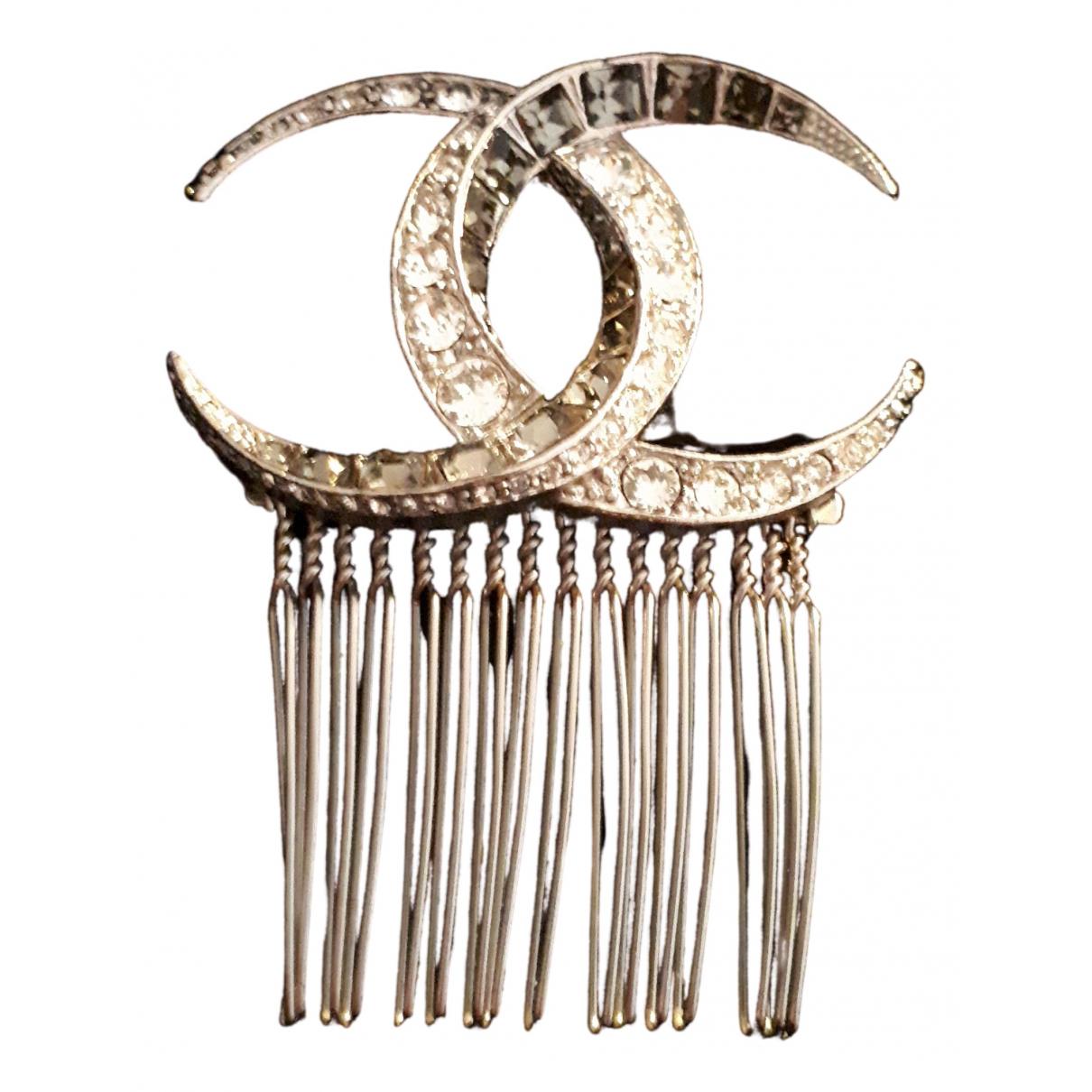 Chanel CC Haarschmuck in  Silber Stahl