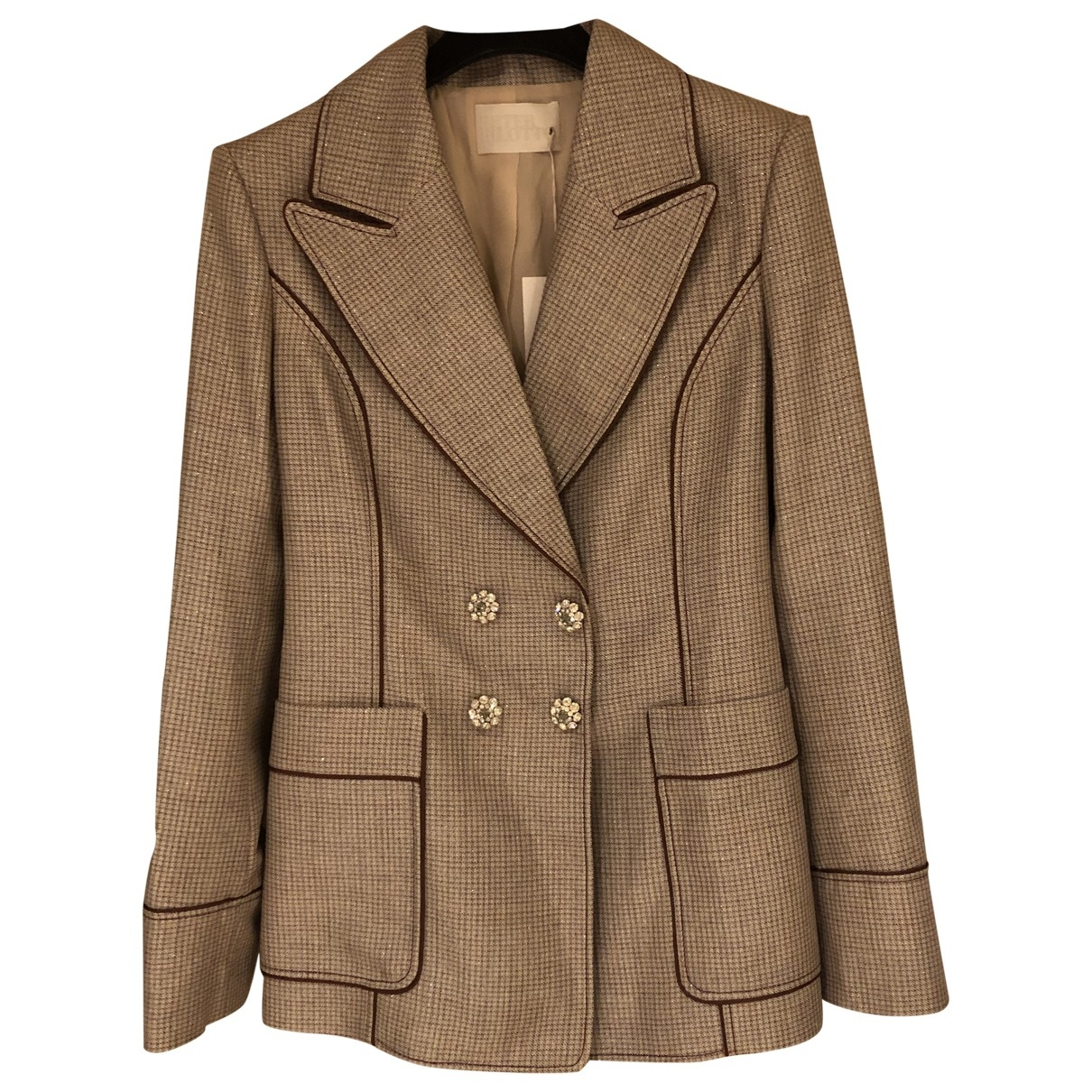 Peter Pilotto \N Beige Wool jacket for Women 10 UK
