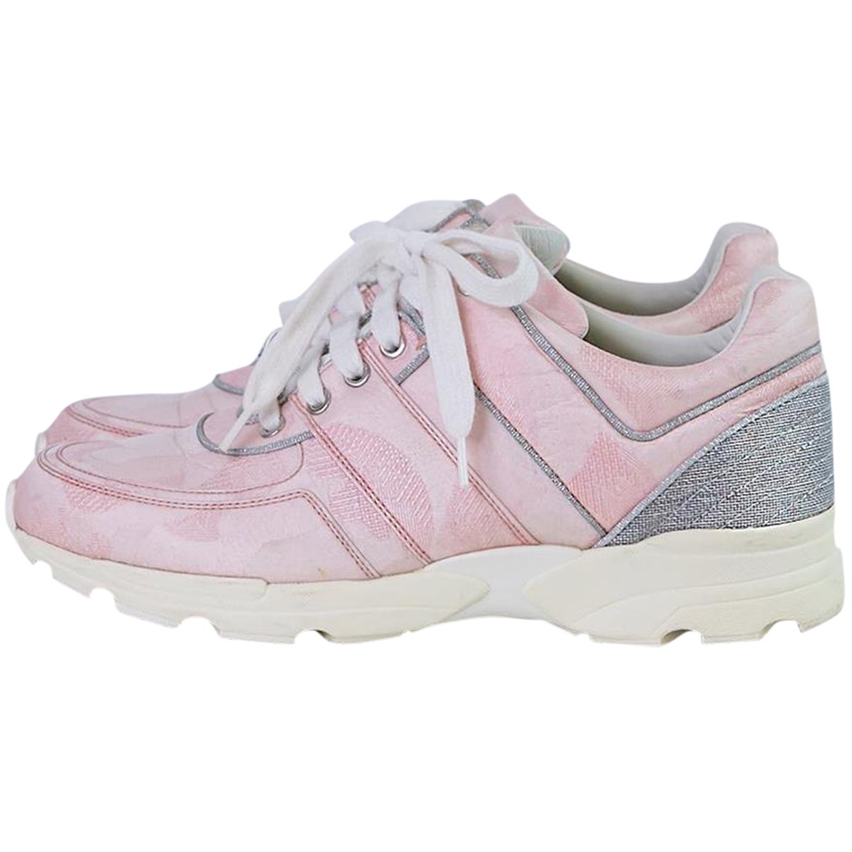 Chanel N Pink Cloth Trainers for Women 39.5 EU