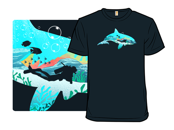 Dolphin Diver T Shirt