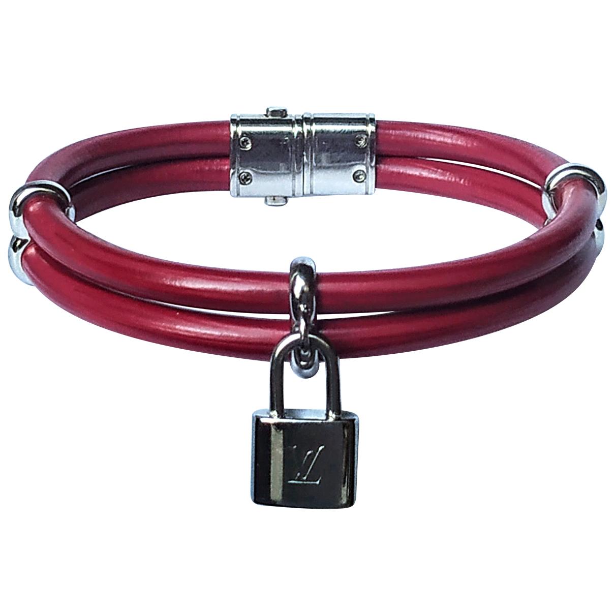 Louis Vuitton Lockit Armband in  Rosa Leder