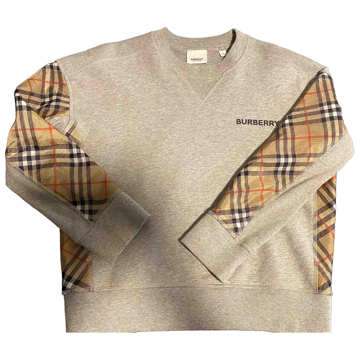 Burberry \N Pullover, StrickJacke in  Grau Baumwolle